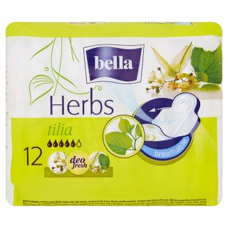Bella Herbs Tilia Sanitary Pads 12 Pieces