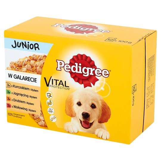 Pedigree Vital Protection Junior in Jelly Complete Dog Food 1.2 kg (12 x 100 g)