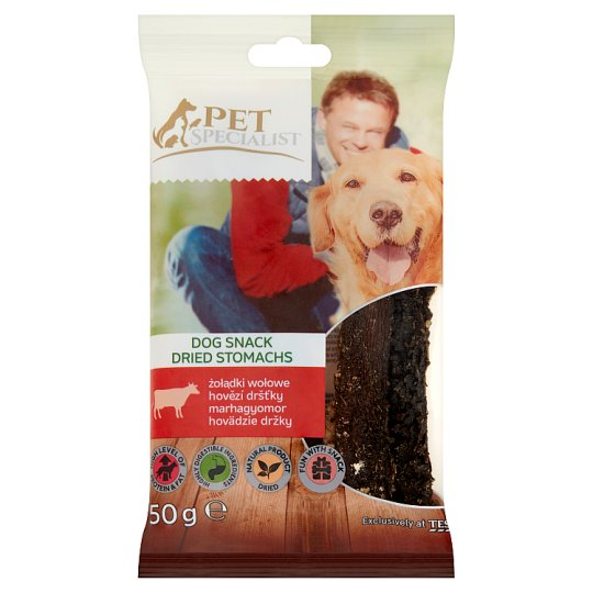 Tesco Pet Specialist Dried Beef Stomachs in Pieces Fodder Material for Adult Dogs 50 g