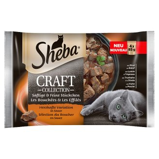 Sheba Craft Collection Complete Cat Food 340 g (4 x 85 g)