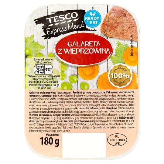 Tesco Express Menu! Jelly with Pork 180 g
