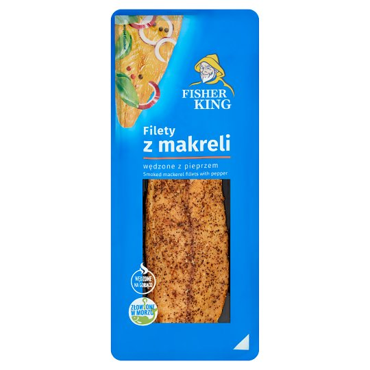 Fisher King Smoked Mackerel Fillets with Pepper 100 g