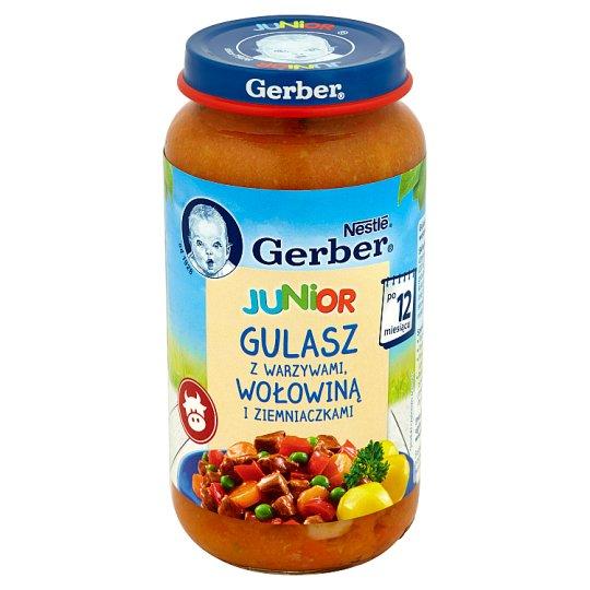 Gerber Junior Gulasz z warzywami wołowiną i ziemniaczkami po 12 miesiącu 250 g