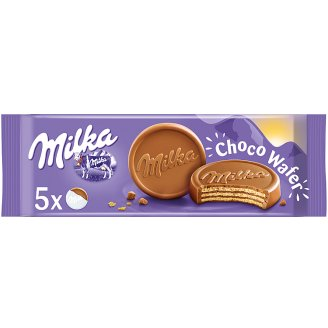 Milka Choco Wafer Wafers with Cocoa Filling Topped with Alpine Milk Chocolate 150 g (5 Pieces)