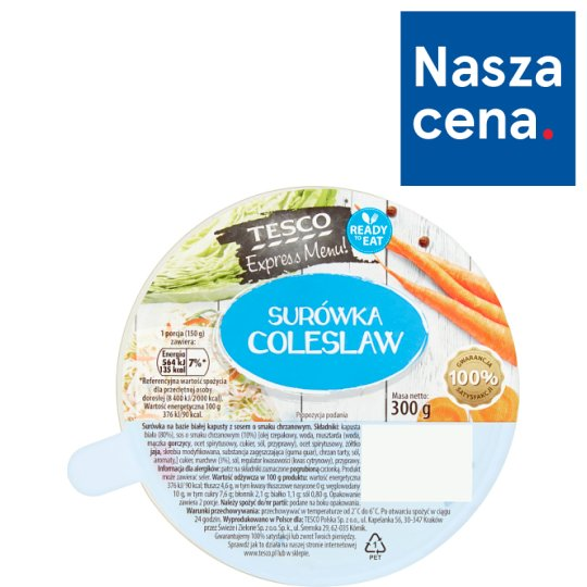 Tesco Express Menu! Coleslaw Salad 300 g