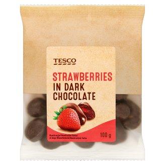 Tesco Truskawki kandyzowane w czekoladzie 100 g