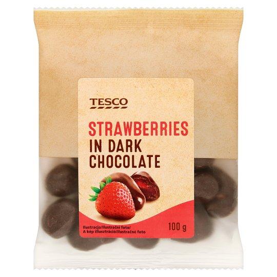 Tesco Strawberries in Dark Chocolate 100 g