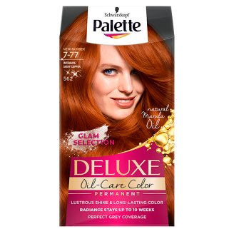 Palette Deluxe Oil-Care Color Farba do włosów Intensywna lśniąca miedź 562