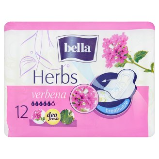 Bella Herbs Verbena Sanitary Pads 12 Pieces