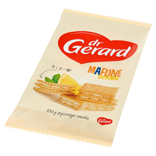 dr Gerard Mafijne Lemon Biscuits with Lemon Flavour Cream 330 g