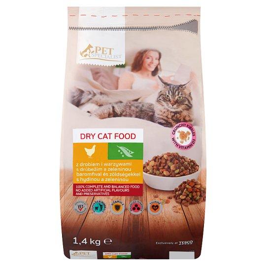 Tesco Pet Specialist Karma dla dorosłych kotów granulki z drobiem i warzywami 1,4 kg