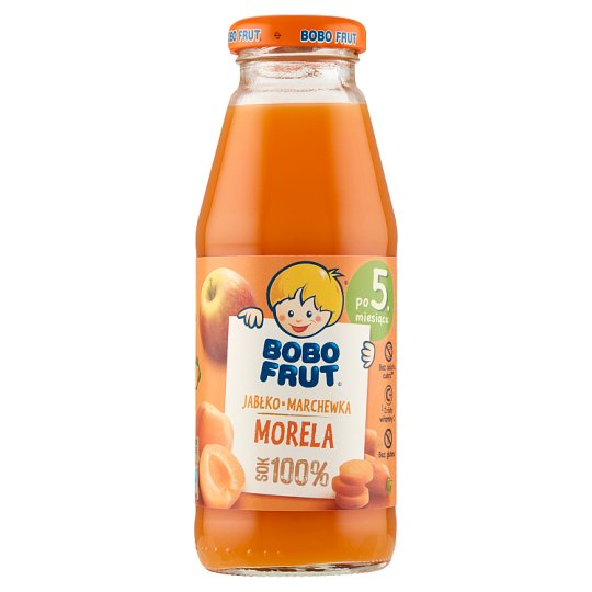 Bobo Frut Apple Carrot and Apricot after 5 Months Onwards 100% Juice 300 ml