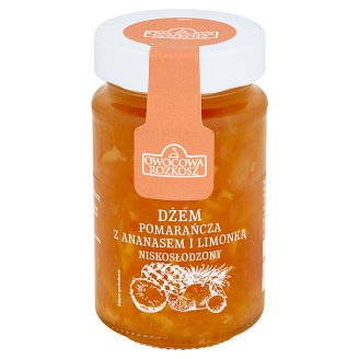 Owocowa Rozkosz Low Sugar Orange with Pineapple and Lime Jam 250 g