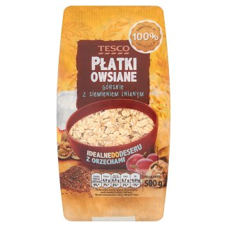 Tesco Montain Rolled Oats Flakes with Linseed 500 g