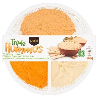 Perla Triple Hummus 240 g (3 x 80 g)