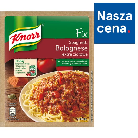 Knorr Fix Extra Herbal Spaghetti Bolognese 48 g