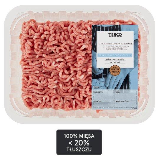Tesco Mięso mielone wieprzowe z łopatki 500 g