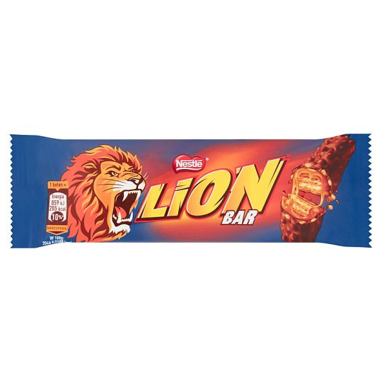 Lion Wafer Bar Filled with Caramel and Wheat Flakes in Cocoa Coating 42 g