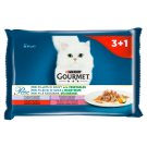 Gourmet Perle Mini Fillets in Sauce with Vegetables Complete Food for Adult Cats 4 x 85 g