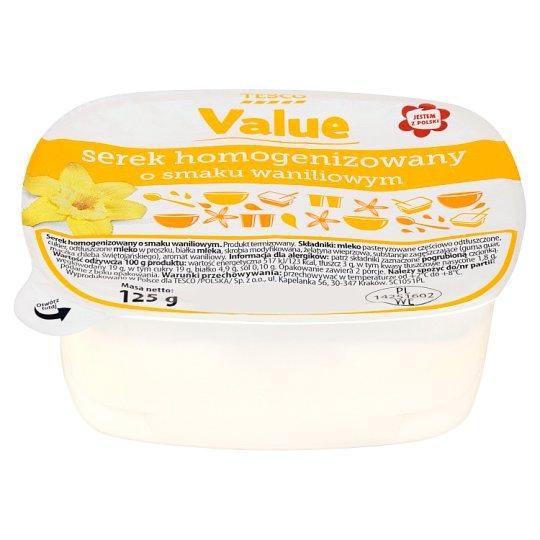 Tesco Value Serek homogenizowany o smaku waniliowym 125 g
