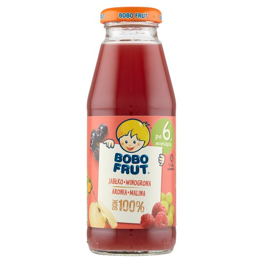 Bobo Frut 100% Apple Grapes Chokeberry and Raspberry Juice after 6 Months Onwards 300 ml