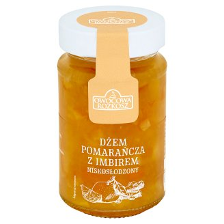 Owocowa Rozkosz Low Sugar Orange with Ginger Jam 250 g