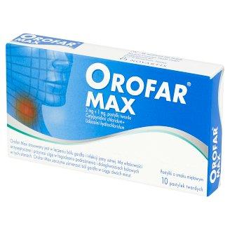 Orofar Max 2 mg + 1 mg Mint Flavour Lozenges 10 Pieces