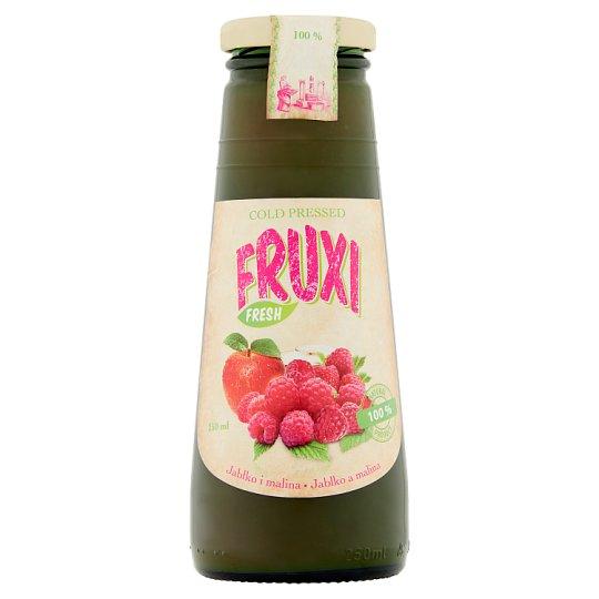 Fruxi Fresh 100% sok tłoczony ze świeżych owoców jabłko i malina 250 ml