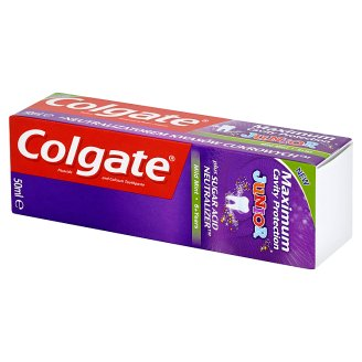 Colgate Maximum Cavity Protection Junior 6 lat+ Pasta z zawartością fluoru i wapnia 50 ml