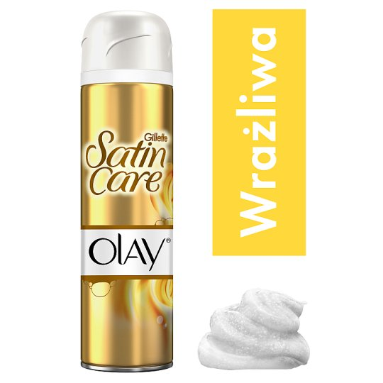 Gillette Satin Care Shaving Gel Vanilla Dream With a Touch of Olay