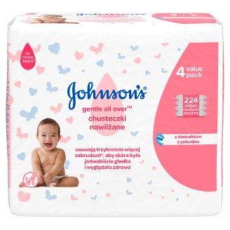 Johnson's Gentle All Over Baby Wipes 224 Pieces