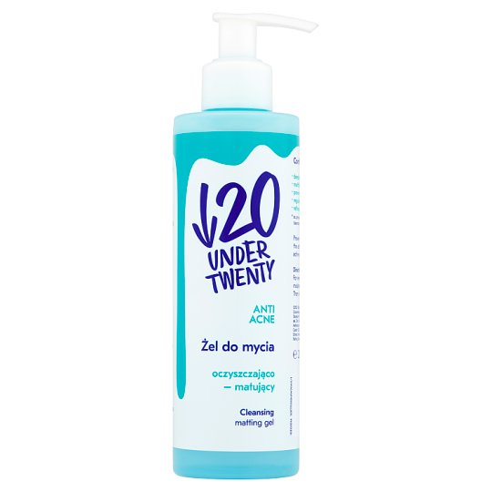Under Twenty Anti Acne Cleansing Matting Gel 200 ml