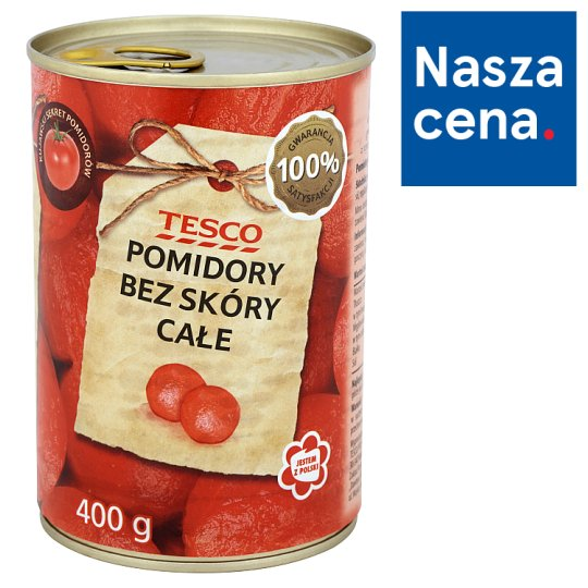 Tesco Whole Peeled Tomatoes 400 g