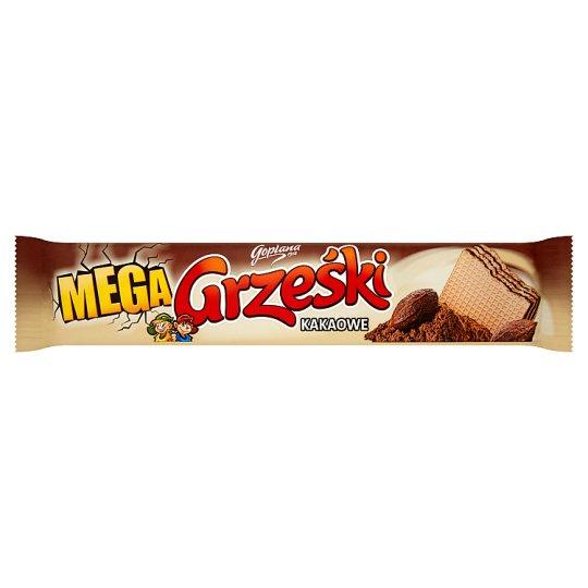 Grześki Mega Kakaowe Wafel przekładany kremem kakaowym 34 g