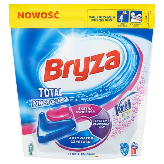 Bryza Vanish Ultra Total Power Gel Caps White and Colour Washing Capsules 608 g (28 Pieces)