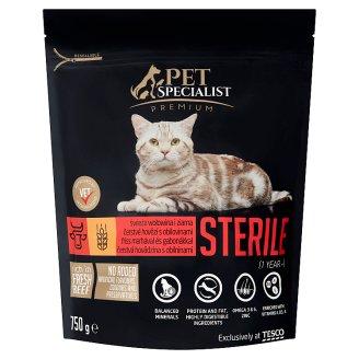 Tesco Pet Specialist Premium Karma dla dorosłych sterylizowanych kotów wołowina i ziarna 750 g