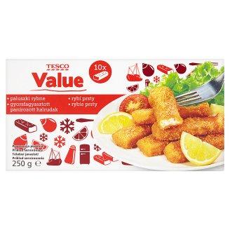 Tesco Value Fish Sticks 250 g (10 Pieces)