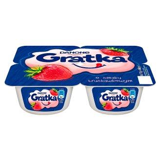 Danone Gratka Strawberry Flavour Dessert 460 g (4 x 115 g)