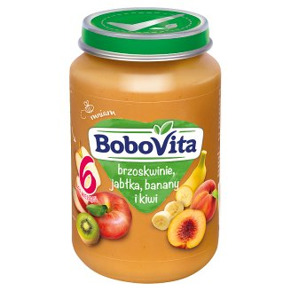 BoboVita Peaches Apples Bananas and Kiwi after 6 Months Onwards 190 g