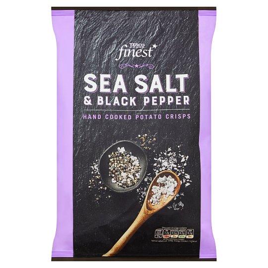 Tesco Finest Sea Salt & Black Pepper Crisps 150 g