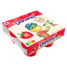 Danone Danonki Mega Strawberry Vanilla Cottage Cheese 360 g (4 Pieces)