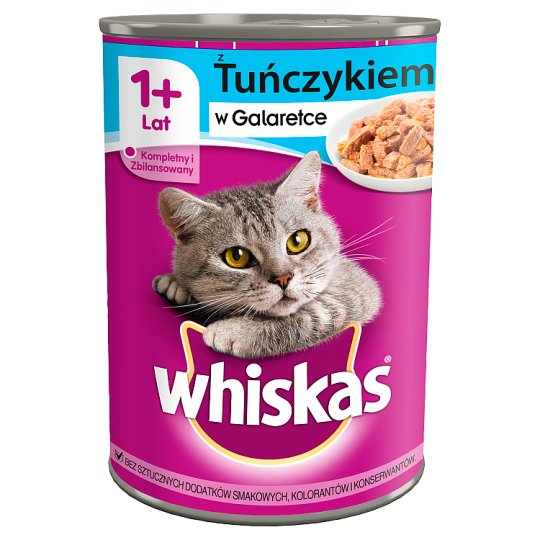 Whiskas 1+Year Complete Cat Food with Tuna in Jelly 400 g