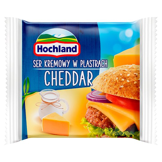 Hochland Cheddar Cream Cheese in Slices 130 g (8 Pieces)