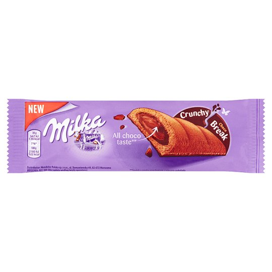 Milka Crunchy Break Cocoa Cake with Nut Filling and Milk Chocolate 26 g
