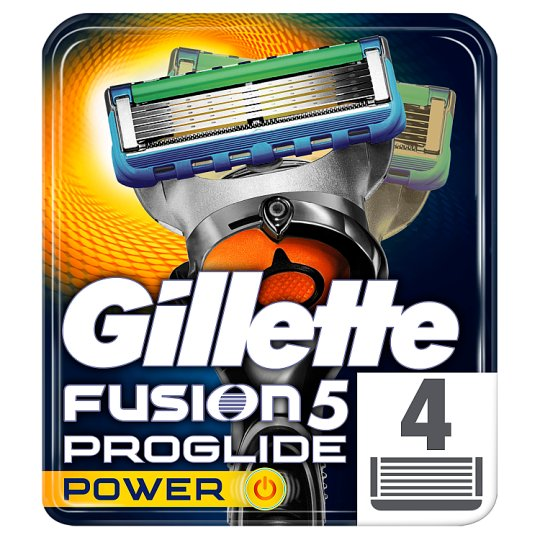 Gillette Fusion5 ProGlide Power Razor Blades For Men, 4 Refills