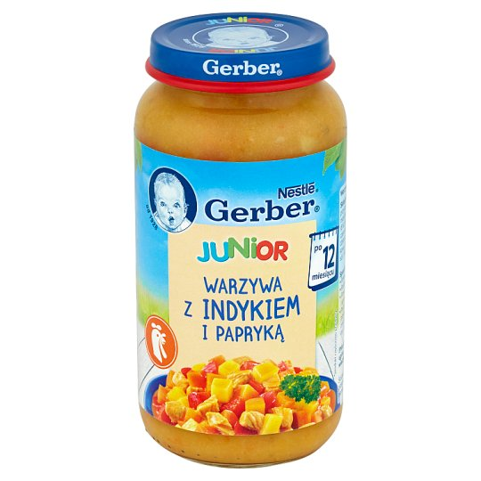 Gerber Junior Vegetables with Turkey and Paprika after 12 Months Onwards 250 g