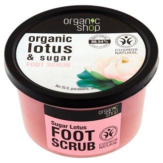 Organic Shop Peeling do stóp cukrowy lotos 250 ml