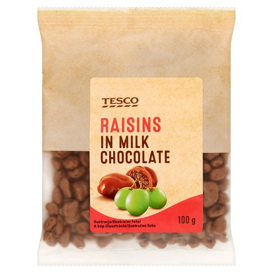Tesco Rodzynki w czekoladzie mlecznej 100 g