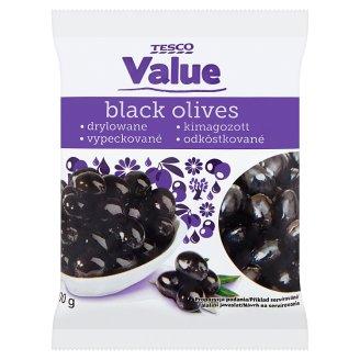Tesco Value Stoned Black Olives 200 g