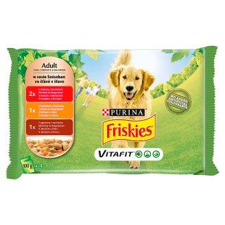Friskies Vitafit Adult Complete Dog Food 4 x 100 g